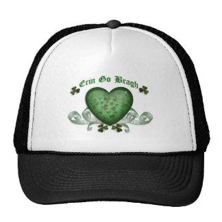 Irish heart Erin Go Bragh green heart Trucker Hat
