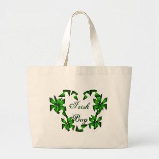 Irish Heart In White Bag - Customizable Canvas Bags