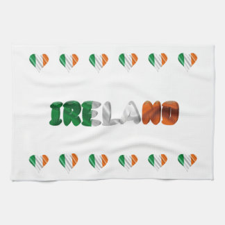 Irish heart kitchen towel