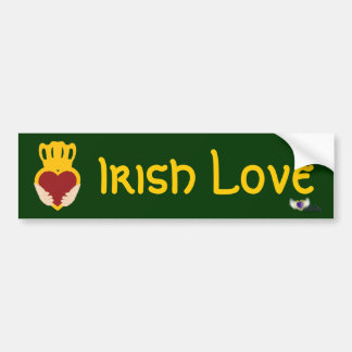 Irish Heart St. Patrick's Day  Bumper Sticker-Cust Bumper Sticker