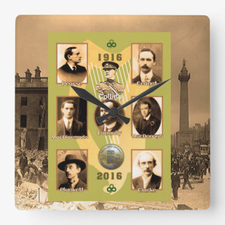 Irish Heroes image for Square-Wall-Clock Square Wall Clock