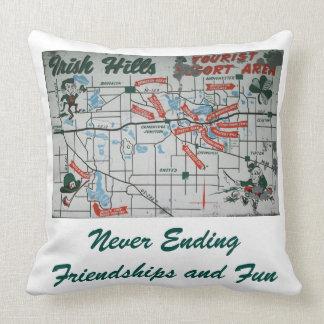 Irish Hills Michigan Resort Area Accent Pillow