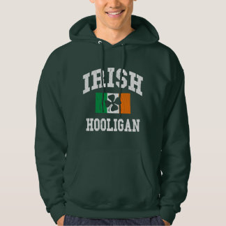 Irish Hooligan Distressed Design Hoodie