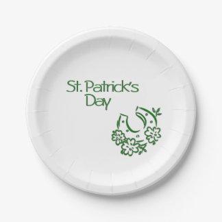 Irish Horseshoe Paper Plate