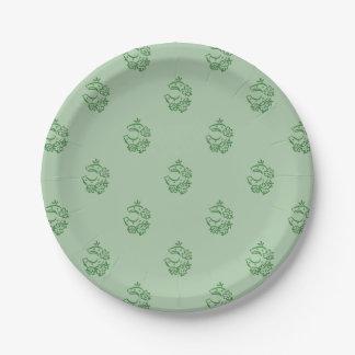 Irish Horseshoe Theme Paper Plate