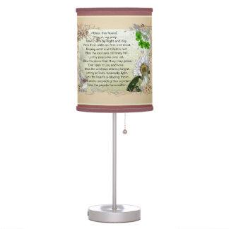 Irish House Blessing table lamp