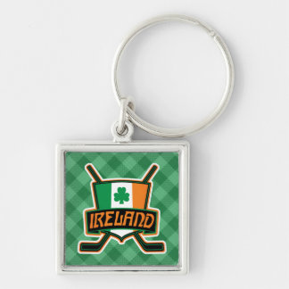 Irish Ice Hockey Flag Logo Keyring