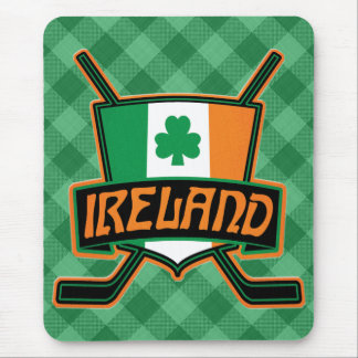 Irish Ice Hockey Flag Logo Mousemat Mouse Pad