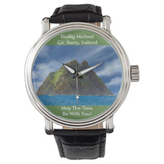 Irish image for Black Vintage Leather Watch
