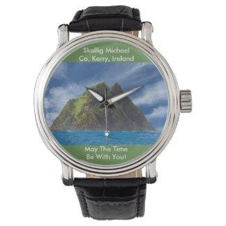 Irish image for Black Vintage Leather Watches