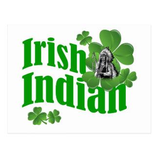 Irish indian postcard