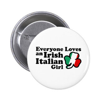 Irish Italian Girl 2 Inch Round Button