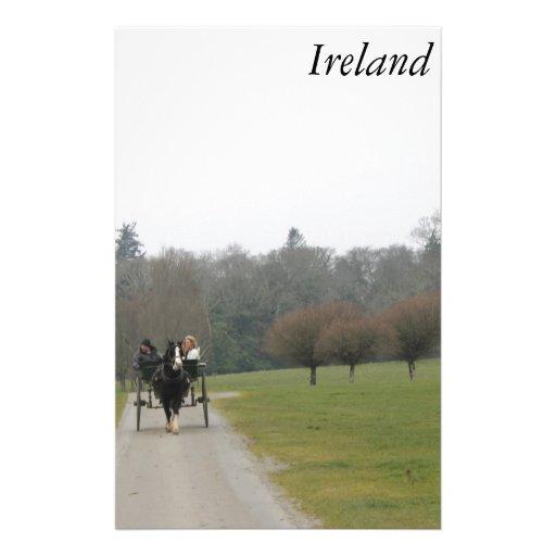 Irish Jaunty Car Ride in Killarney Ireland Stationery