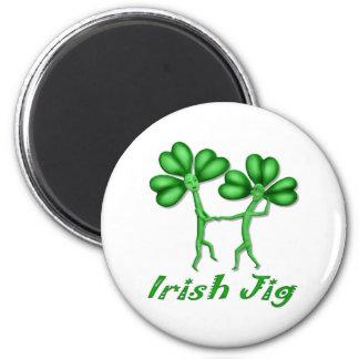 Irish Jig 2 Inch Round Magnet