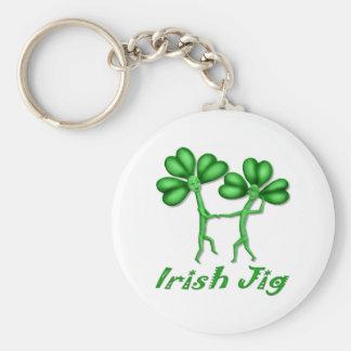 Irish Jig Basic Round Button Keychain