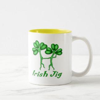 Irish Jig Two-Tone Coffee Mug