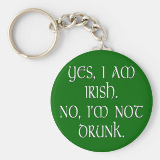 Irish joke funny anti-stereotype keychain