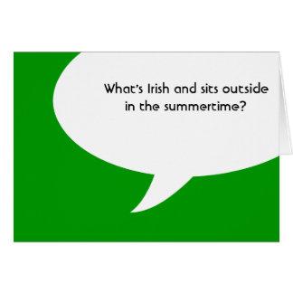 irish jokes note card
