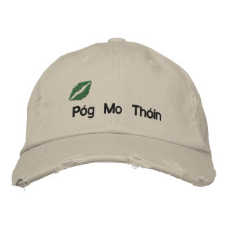 "Irish ""Kiss My Butt"" Embroidered Hat Embroidered Hats"