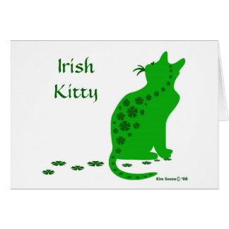 Irish Kitty-Card Note Card