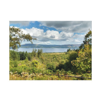 Irish Lake under Irish Sky Canvas Print