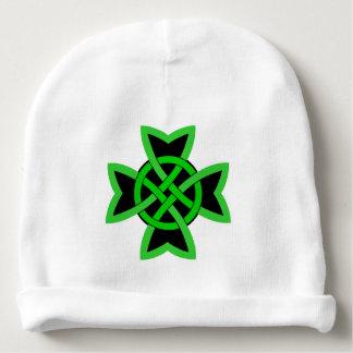 Irish Large Bold Deep Green Celtic Knot Baby Beanie