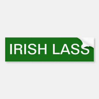 IRISH LASS BUMPER STICKER