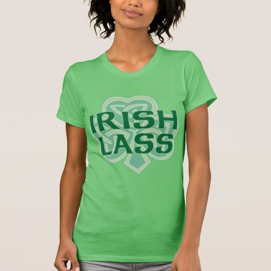 Irish Lass Celtic Knot Shamrock T-Shirt