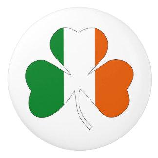 irish leaf symbol flag clover symbol ireland ceramic knob