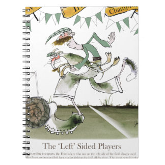 irish left wing footballer spiral notebook