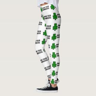 irish leggings shake your shamrocks funny