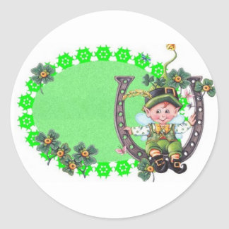 Irish Leprechaun Classic Round Sticker