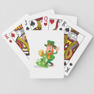 Irish Leprechaun Funny St. Patrick's Day Playing Cards