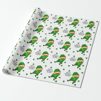 Irish Leprechaun Wrapping Paper