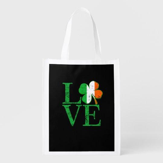 Irish Love for St Patricks Market Totes