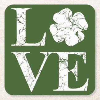 Irish Love II Square Paper Coaster