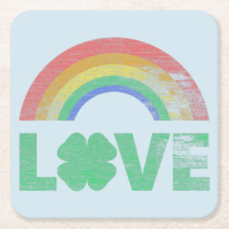 Irish Love III Square Paper Coaster