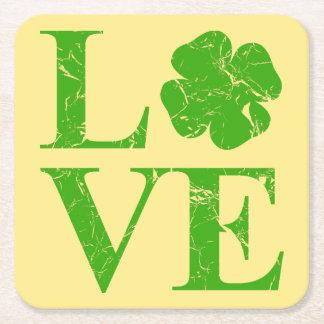 Irish Love Square Paper Coaster