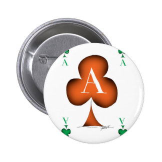 Irish 'Lucky' Ace of Clubs by Tony Fernandes 2 Inch Round Button