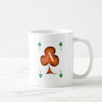 Irish 'Lucky' Ace of Clubs by Tony Fernandes Coffee Mug