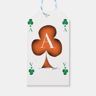 Irish 'Lucky' Ace of Clubs by Tony Fernandes Gift Tags