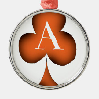 Irish 'Lucky' Ace of Clubs by Tony Fernandes Metal Ornament