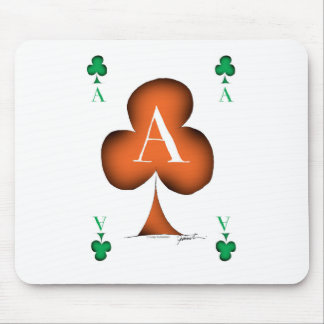 Irish 'Lucky' Ace of Clubs by Tony Fernandes Mouse Pad