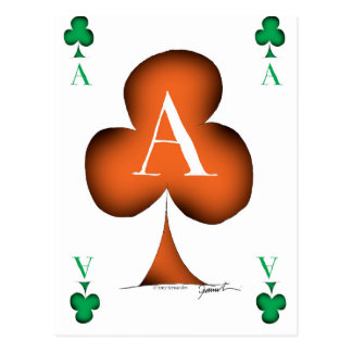 Irish 'Lucky' Ace of Clubs by Tony Fernandes Postcard