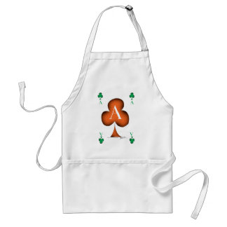 Irish 'Lucky' Ace of Clubs by Tony Fernandes Standard Apron
