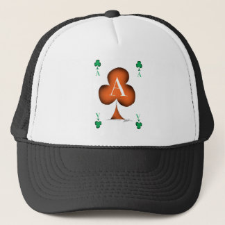 Irish 'Lucky' Ace of Clubs by Tony Fernandes Trucker Hat