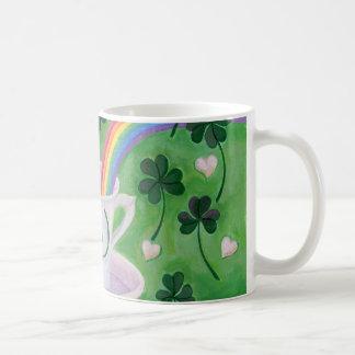 Irish Lucky Coffee Cup painting
