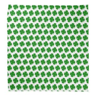Irish lucky green shamrock head kerchiefs