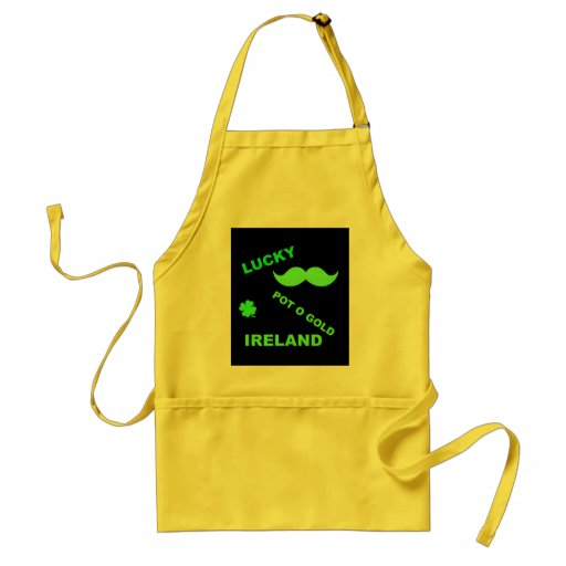 Irish Lucky Pot o Gold Quotes Apron