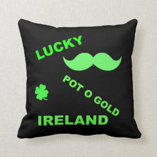 Irish Lucky Pot o Gold Quotes Cushion Throw Pillow
